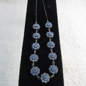 Liz Palacios Midnight Blue Crystal Necklace